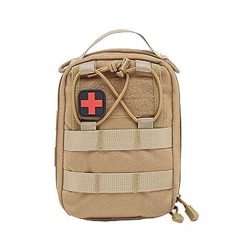 Botiquín de Primeros Auxilios EMT Bolsa táctica compacta MOLLE Botiquín médico 1000D para Viajes en el Lugar de Trabajo al Aire Libre en el hogar