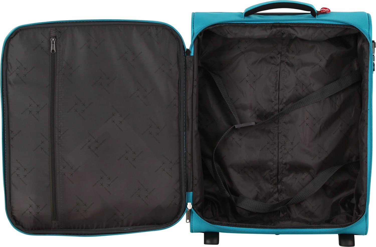 Amazon.com | Travelite CABIN 2Rad Bordtrolley, Türkis, 90237-23 Hand Luggage, 52 cm, 39 liters, Turquoise (Türkis) | Carry-Ons
