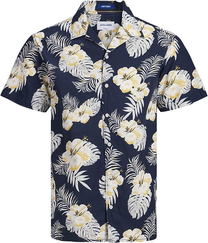 Jack & Jones Jorcole Shirt SS Org Camisa para Hombre: Amazon.es: Ropa y accesorios