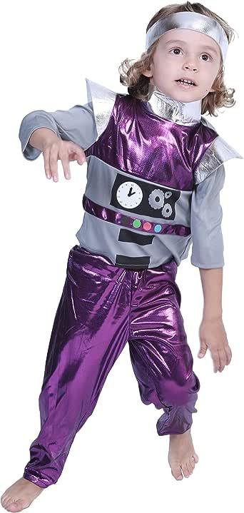 EraSpooky Niños Espacio Mago Disfraz de Robot Artificial ...