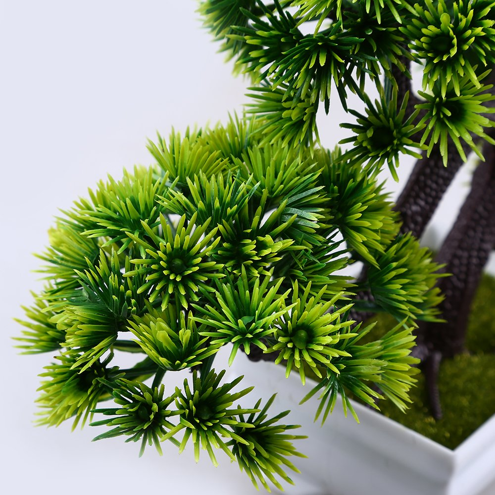 WCIC Artificial Pine Bonsai, Fake Potted Plants Decor for Home Office Green by WCIC (Image #3)