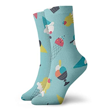 REordernow Calcetines cortos para hombres mujeres Icecream ...
