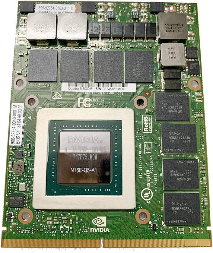 New GDDR5 8GB Graphics Video Card for HP 8770W ZBook 17 G3 G4 Lenovo P70 P71 Mobile Workstation Laptop, NVIDIA Quadro M5000M N16E-Q5-A1, MXM VGA Board GPU Upgrade Replacement Parts