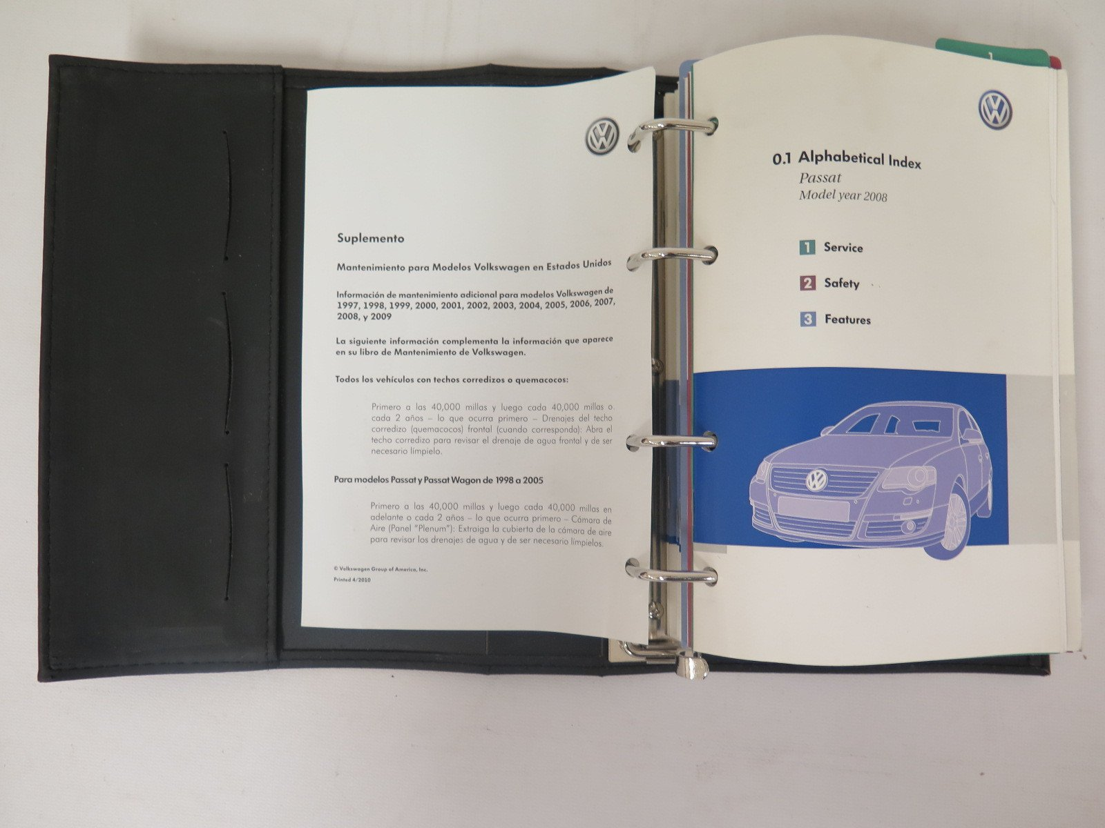 2008 VW Volkswagen Passat Owners Manual: VW Automotive: Amazon.com: Books