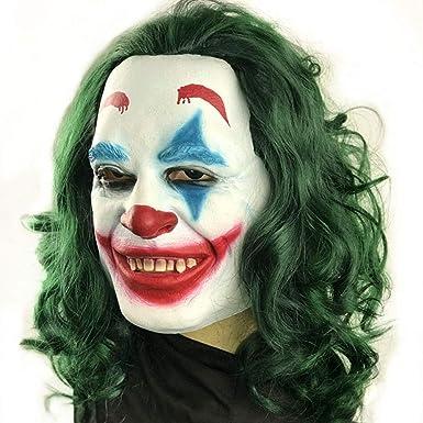 Amazon.com: Maserfaliw Máscaras de Halloween Joker Máscara ...