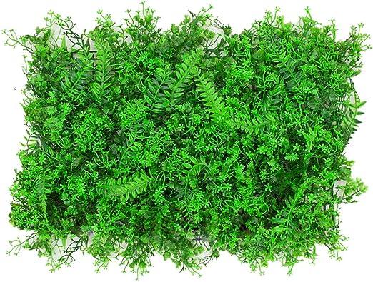 YNFNGXU Planta Artificial Pared Verde Valla Pared Pantalla hogar jardín decoración de la Pared al Aire Libre, 60 × 40 cm (Color : C): Amazon.es: Hogar