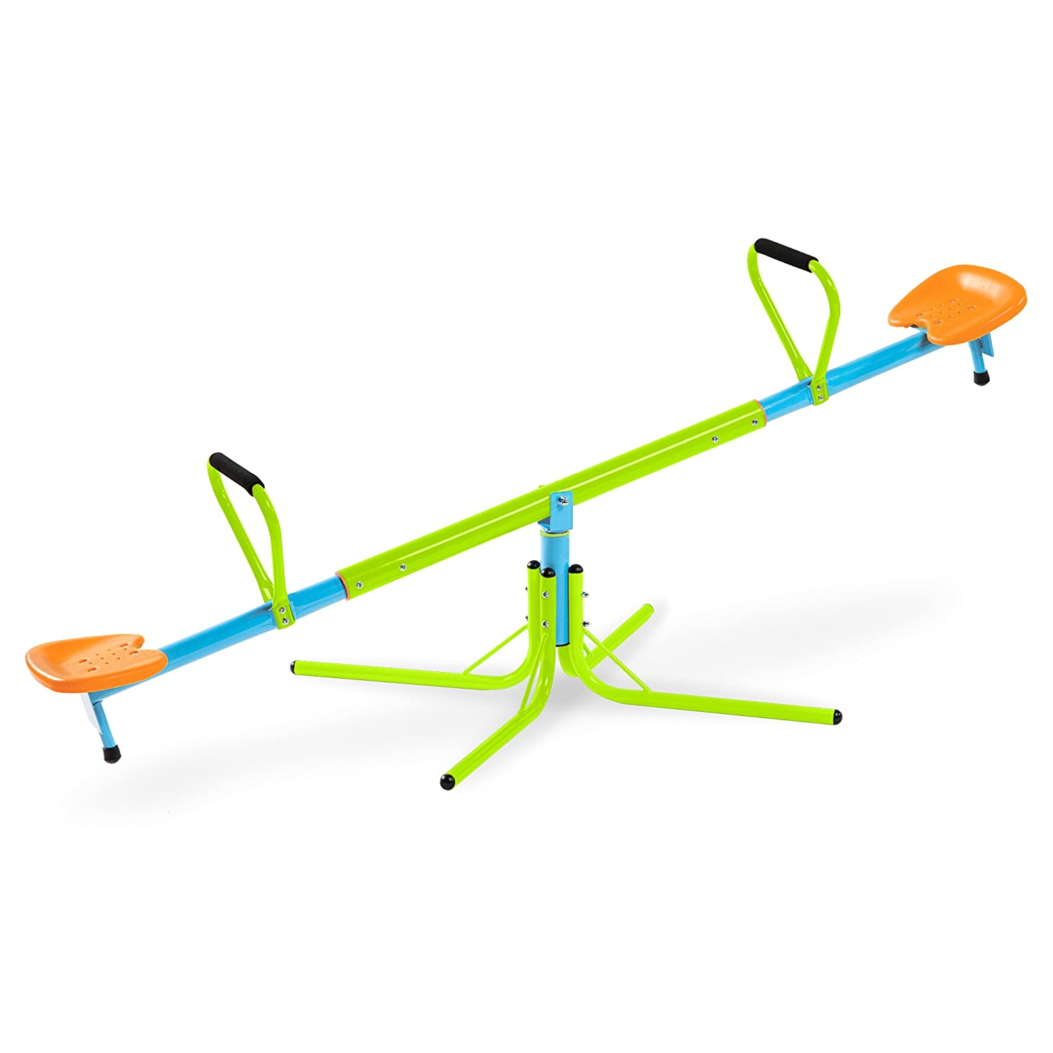 Pure Fun Home Playground Equipment: Swivel Seesaw, Youth Ages 4 to 10 Pure Global 9307SS