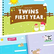 Twins First Year Memory Book - A Gorgeous Baby Keepsake Journal to Cherish Your Twin's First Year Forever! Includes Stickers, Family Tree, Holidays, Letters from Mom & Dad and Much More!