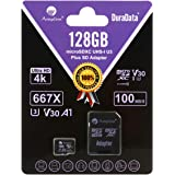 Amplim 128GB Micro SD Card Plus Adapter Pack, 128 GB MicroSD SDXC Class 10 Pro U3 A1 V30 Extreme Speed 100MB/s UHS-I UHS…