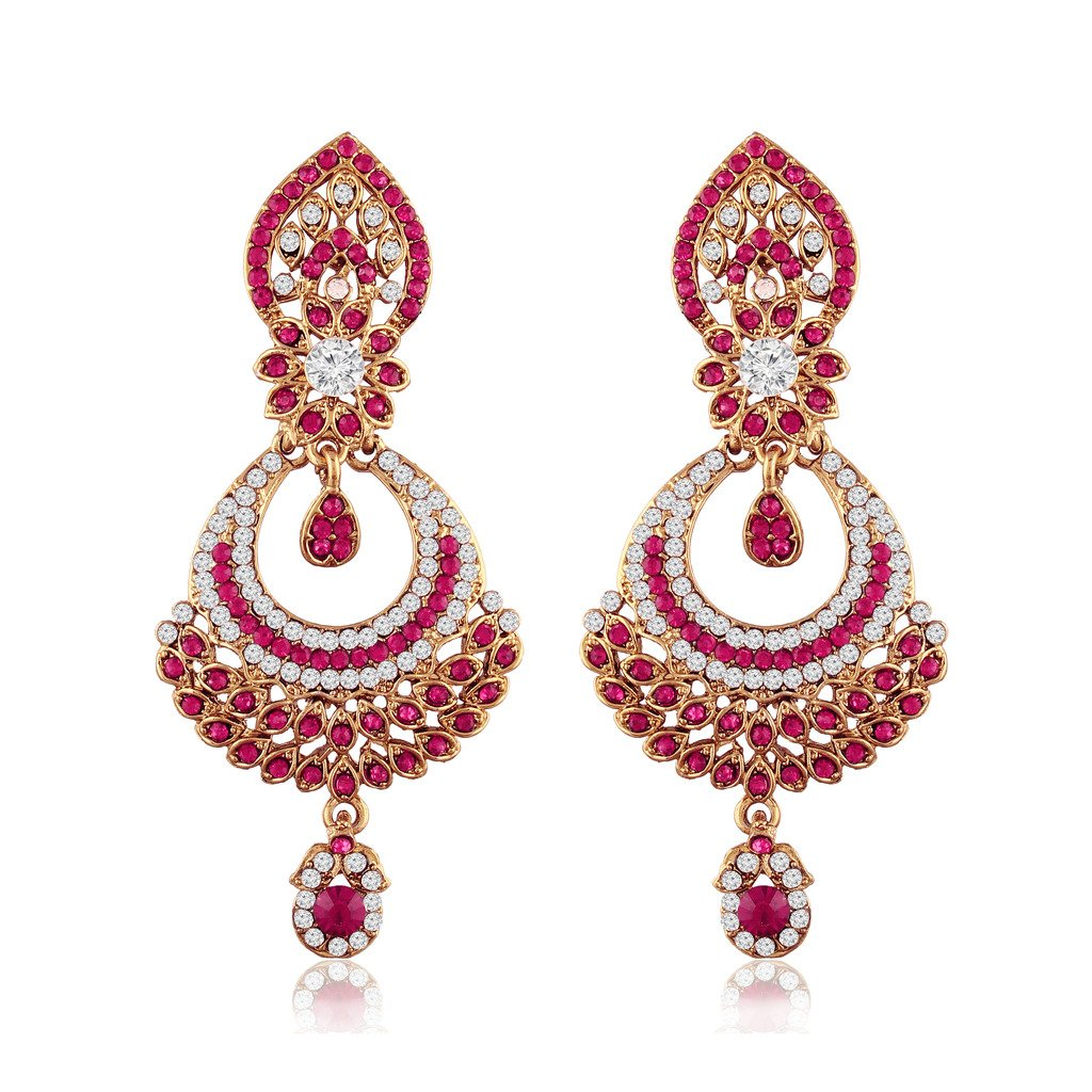 I Jewels Gold Plated Traditional Designer Earrings for Women