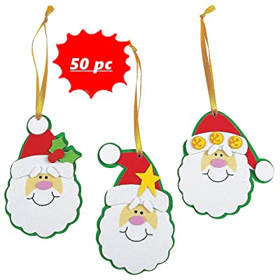 Simple Santa Ornament Craft Kit -50 Pc - Crafts for Kids and Fun Home Activities: Toys & Games
