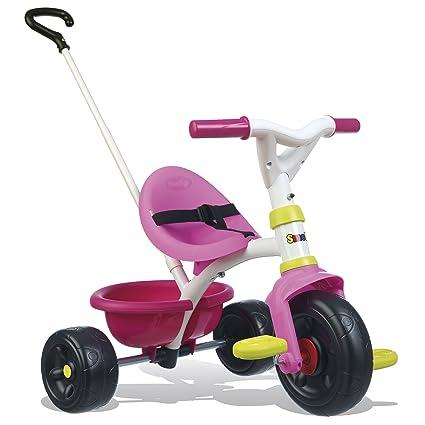 Triciclo Be Fun rosa con volquete (Smoby 740322)