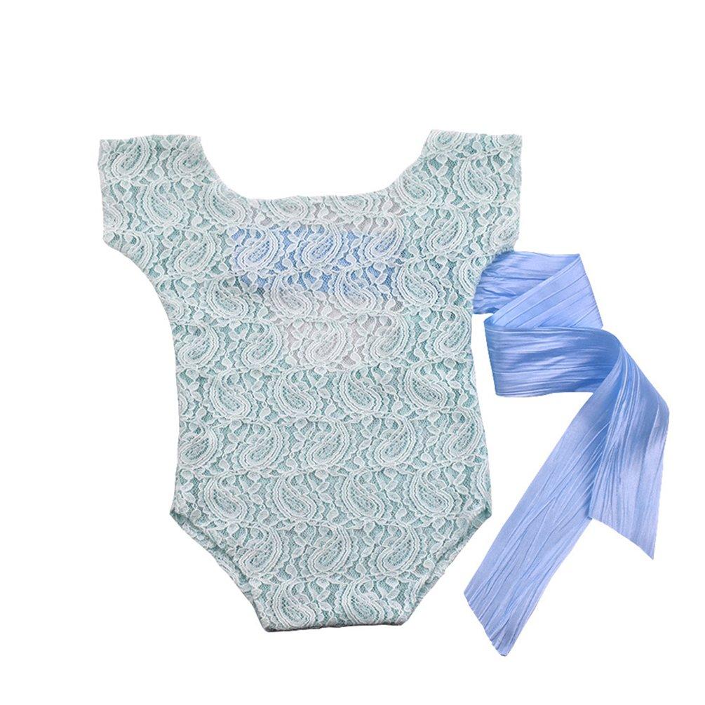 bismarckbeer recién nacido bebé fotografía Props ropa disfraz encaje Pelele Body beige beige Talla:talla única: Amazon.es: Bebé