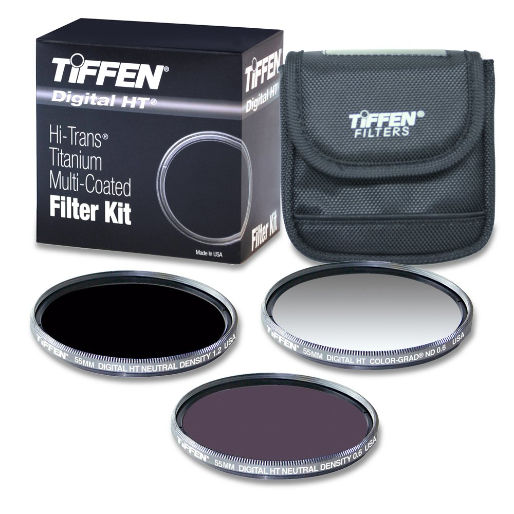 Tiffen 55HTNDK3 55MM Digital HT ND Kit with ND 0.6, 1.2 and Color Grad ND 0.6