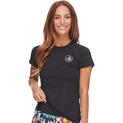 Body Glove Women's Smoothies In Motion Solid Short Sleeve Rashguard: Clothing