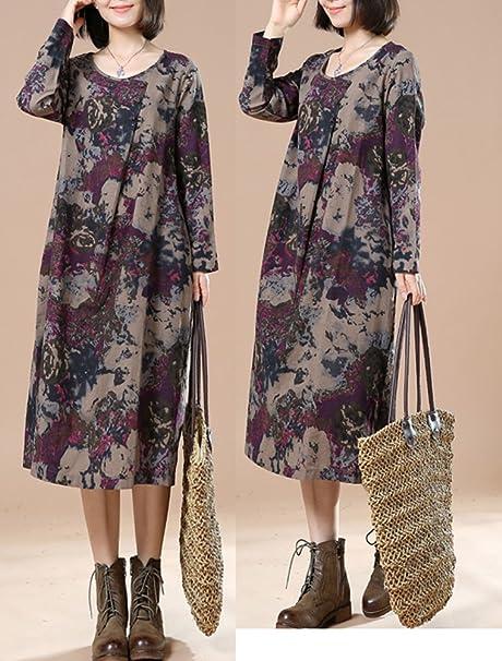 Vogstyle Donna Maglieria a Manica Lunga Collezione Autunno-Inverno Stile-2  Viola XL  Amazon.it  Abbigliamento 53879c75234