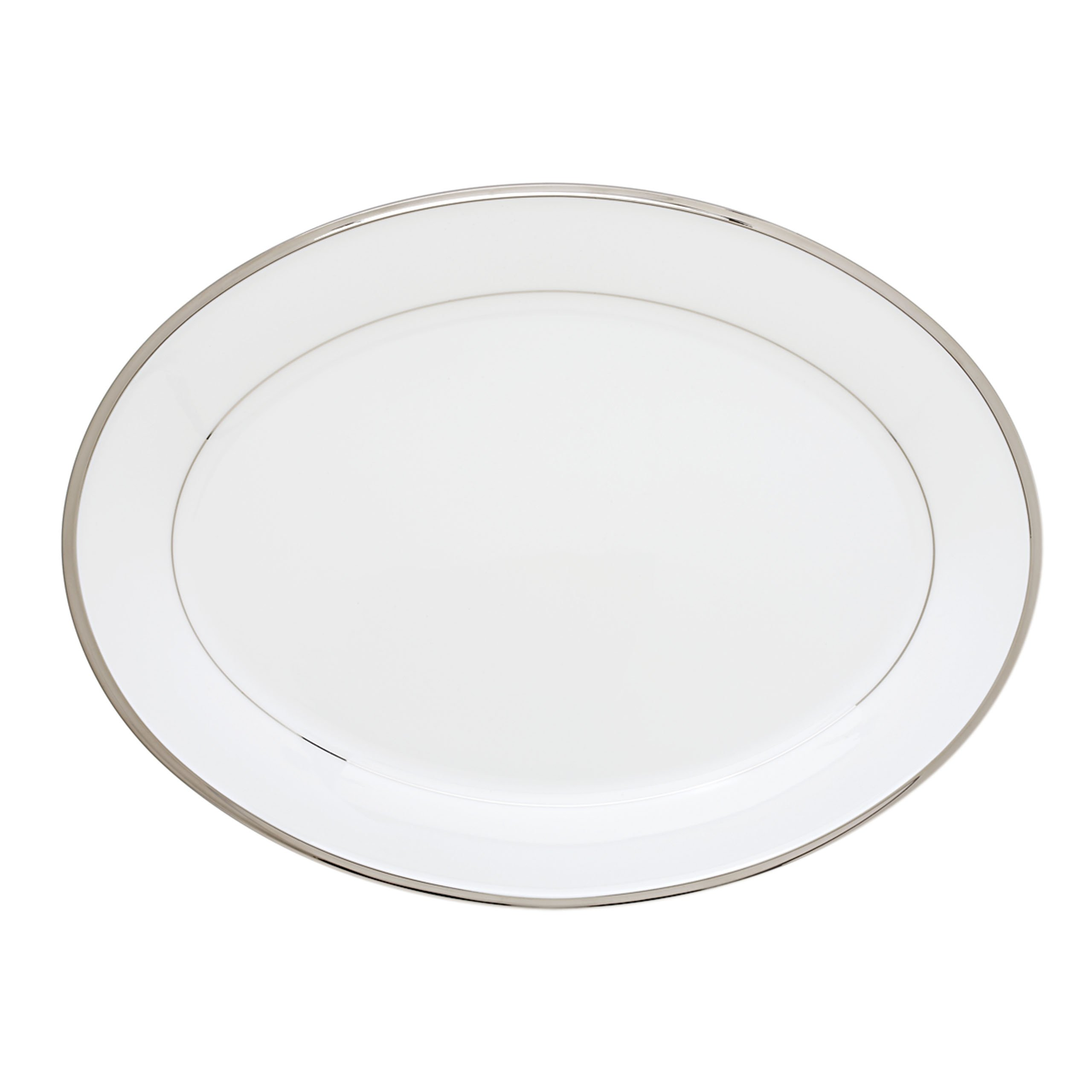 Lenox Solitaire Oval Platter, 16-Inch, White