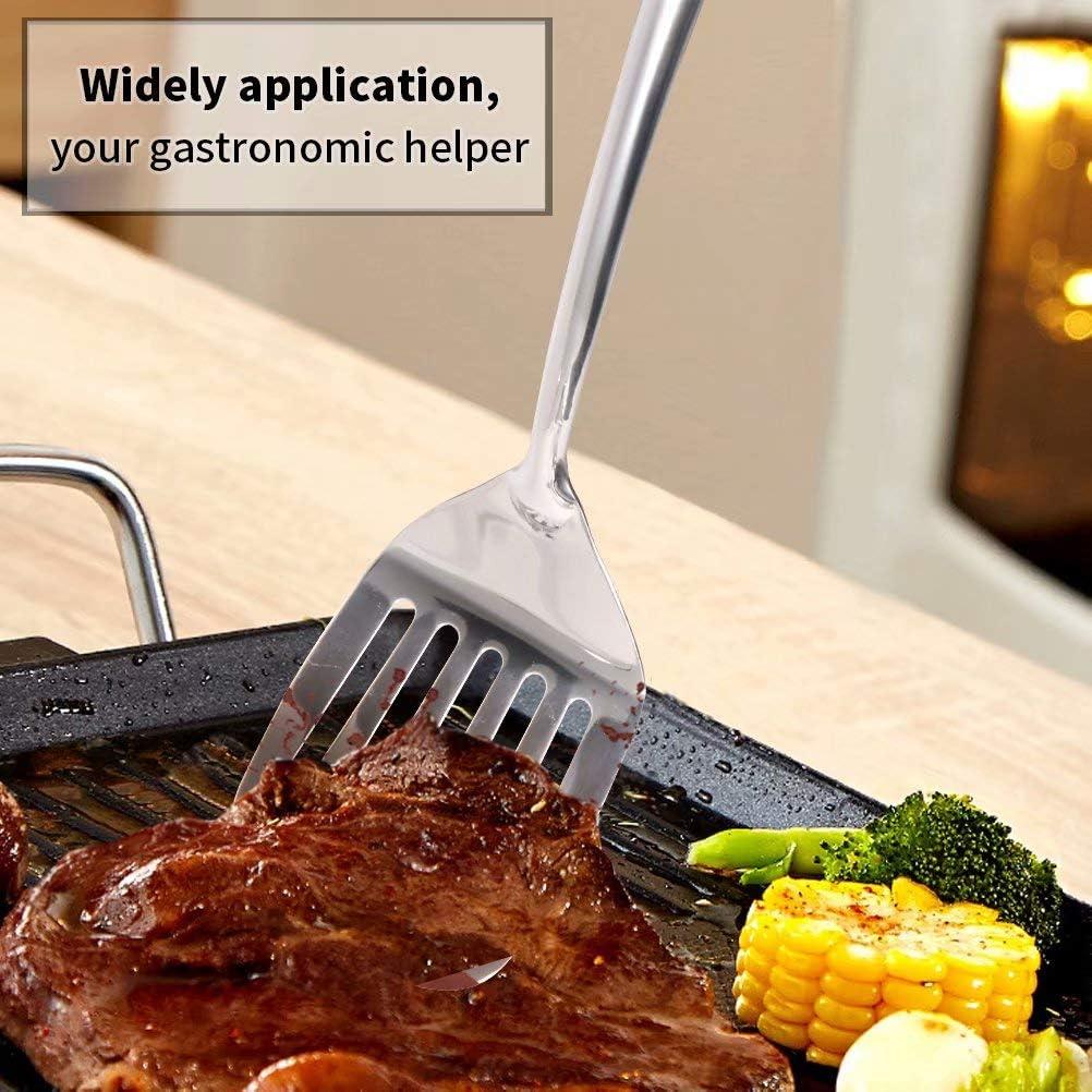 Newness 40 cm Spatule de Cuisine Spatule /à 304 Acier Inoxydable Spatule Cuisine avec Poign/ée Ergonomique Isol/ée /à Vide