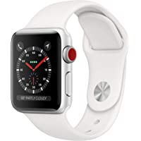 Apple Watch Series 3 (GPS + Cellular, 38mm) - Silver Aluminum Case with White Sport Band photo