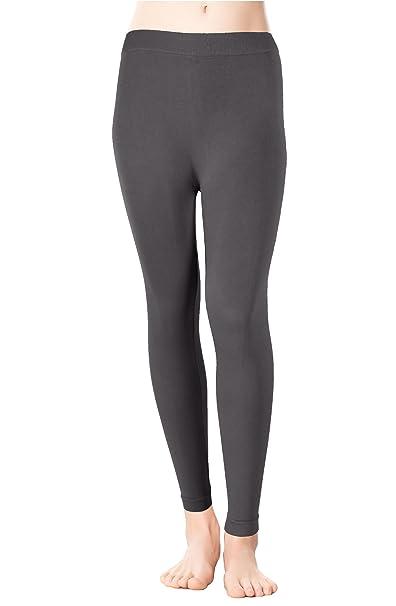 4bbab8fa97a94 Red Bene Women's Microfiber Seamless Thick Leggings Yoga Pants, One-Size  Grey
