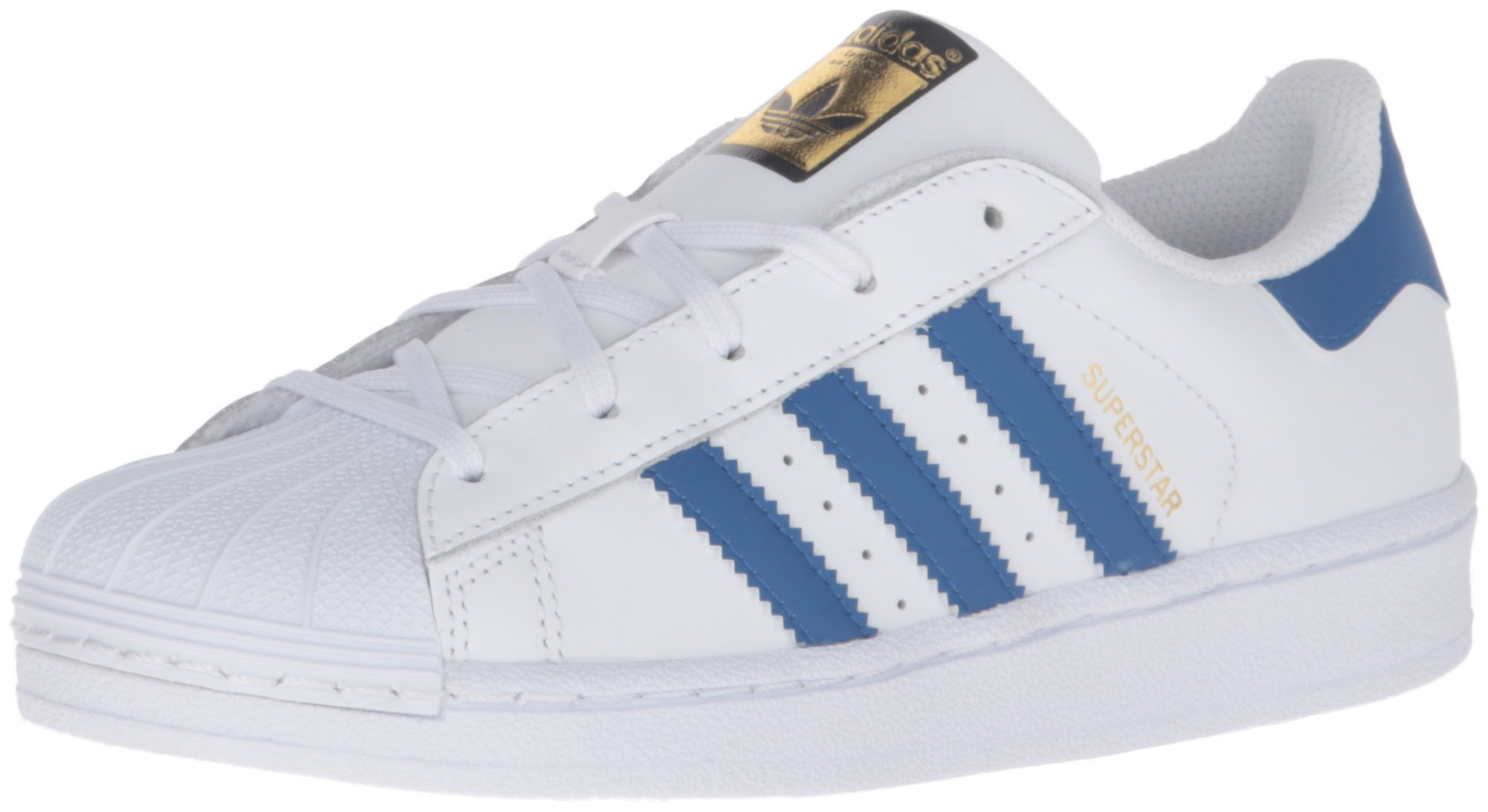 adidas Originals Boys' Superstar Foundation EL C Skate Shoe, White/Satellite/White, 11 M US Little Kid