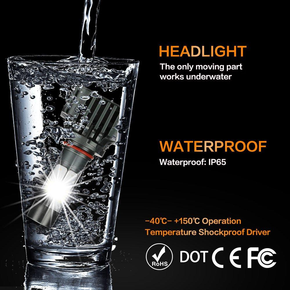-ZDATT 2 Years Warranty 6000K 8000K //White H7 LED Headlight Bulbs 12000LM 100W Super Bright Conversion Kits 360 Degree High//Low Dual Beam Light for Car Lamp Replacement-Amber //Light-Blue 3000K