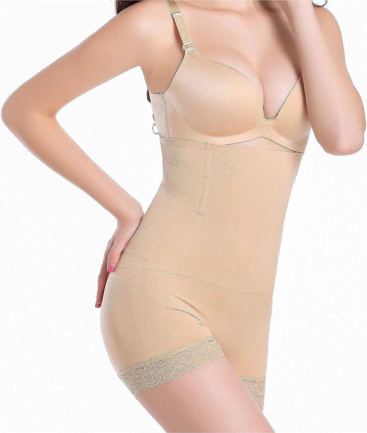 SLTY Womens High Waist Shapewear Tummy Control Waist Cincher Girdle Seamless Control Panty Jacquard Boyshorts