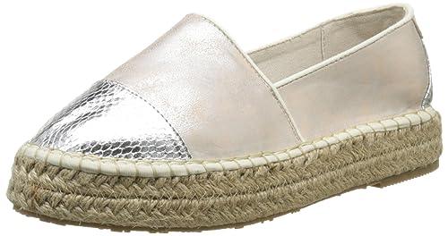 Mustang 1224202, Alpargatas para Mujer, Plateado-Argent (205 Silber/Rose), 36 EU: Amazon.es: Zapatos y complementos