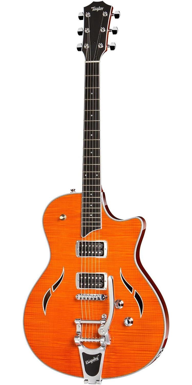 Amazon.com: Taylor Guitars JB-T3 Semi Hollow Electric Guitar Orange: Musical Instruments