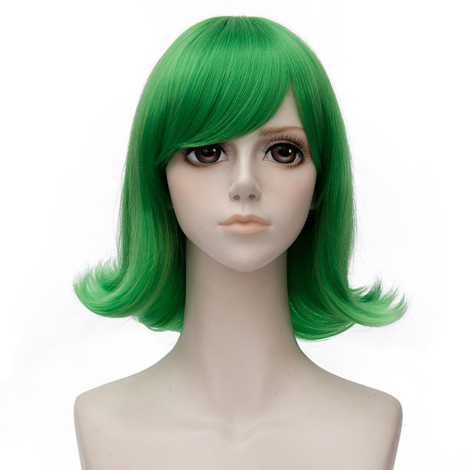 Probeauty Movie Inside Out Characters Joy Sadness Disgust Cosplay Wigs, Green