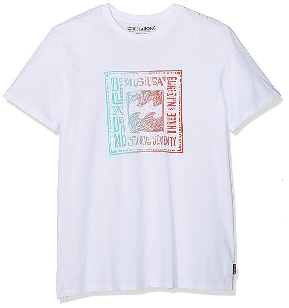 Billabong Six SS Camiseta, Hombre, Blanco, L amazon blanco
