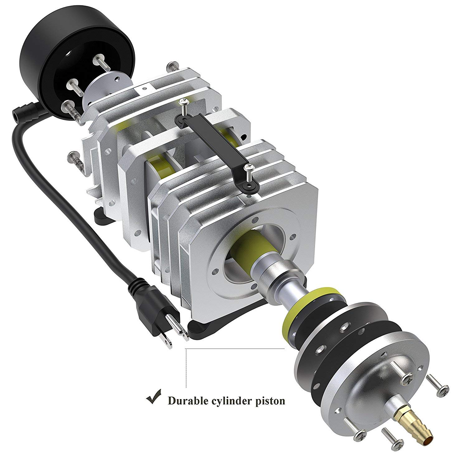 Hydroponic Systems Air Pump for Fish Tank 950 GPH 32W 6 Outlet Commercial