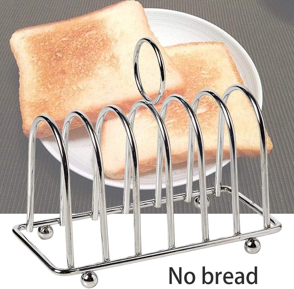 Toast Rack Utensile in acciaio inox Party Show Tool 6 dischi casa cucina display raffreddare Crisper portapane ristorante cibo