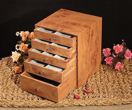 TRE caja de joyería de madera/ joyero/Caja de madera cinco cajones ...