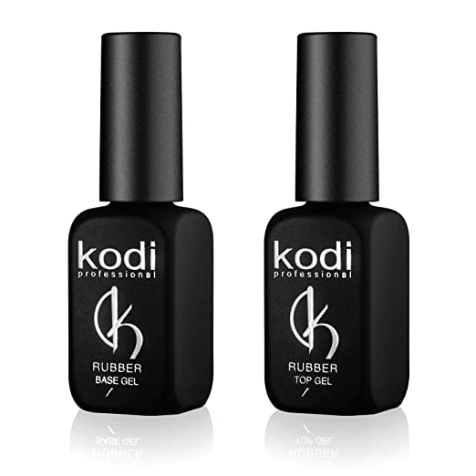 Amazon.com : Professional Rubber Top & Base Gel Set By Kodi | 12ml 0.42 oz | Soak Off, Polish Fingernails Coat Kit | For Long Lasting Nails Layer | Easy To Use, Non-Toxic & Scentless | Cure Under LED Or UV Lamp : Beauty