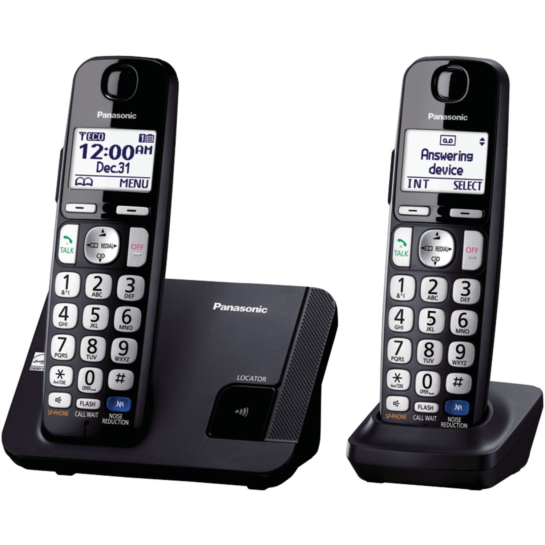 Amazon.com : Panasonic Amplified Cordless Phone KX-TGE210B DECT 6.0 with  Enhanced Noise Reduction - 1 Handset (Black/Silver) : Area Rugs :  Electronics