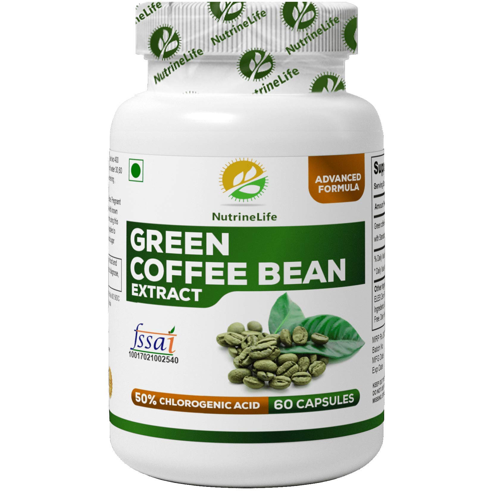 Simply Nutra Green Coffee Bean Extract Pure 50 Gca Weight Loss
