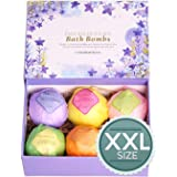 LuxSpa Bath Bombs Gift Set - The Best Ultra Natural Bubble Fizzies with Dead Sea Salt Cocoa and Shea Essential Oils, 6 x 4.1