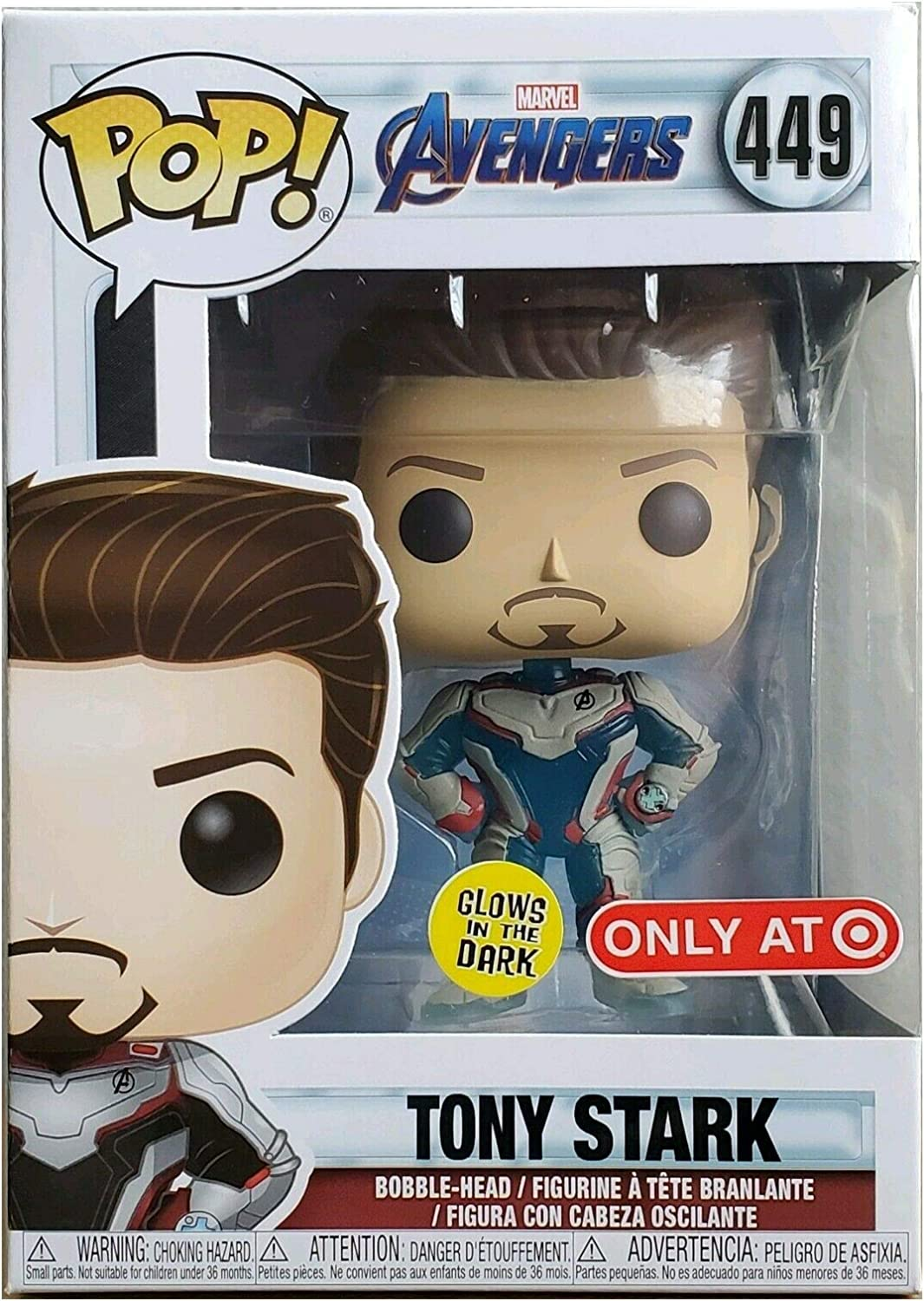Funko pop the avengers end game iron man tony stark exclusive marvel toy toys