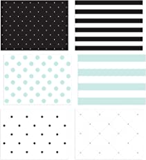 36 pack blank note cards 6 all occasion polka dot and striped designs greeting - Note Cards