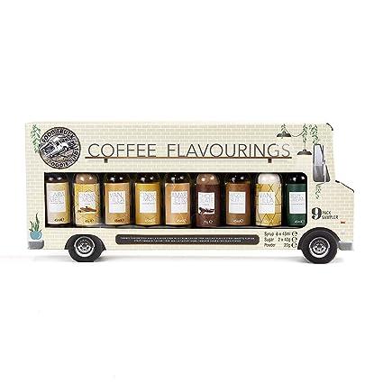 Juego de 9 jarabe de café para camionetas de alimentos y set de regalo de 9