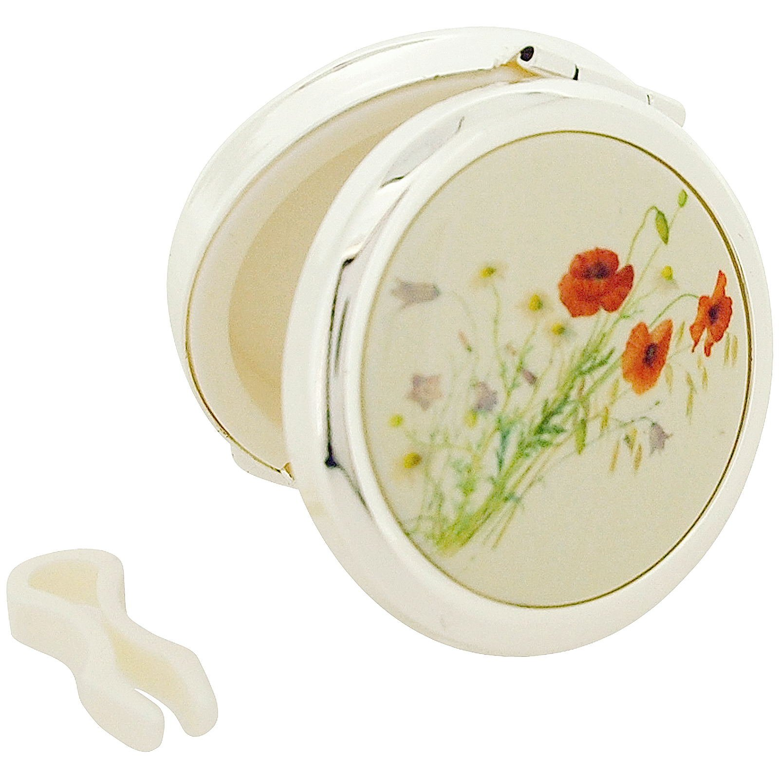 Stratton Pill Box Ladies Heritage Collection Poppy Design Travel Pill Case Plus Tongues ST1149