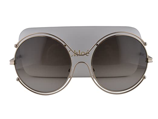 Amazon.com: Chloe ce122s anteojos de sol Oro Caqui w/verde ...