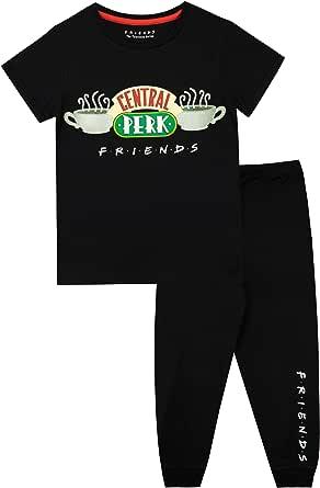 FRIENDS Pijamas de Manga Corta para niñas Central Perk