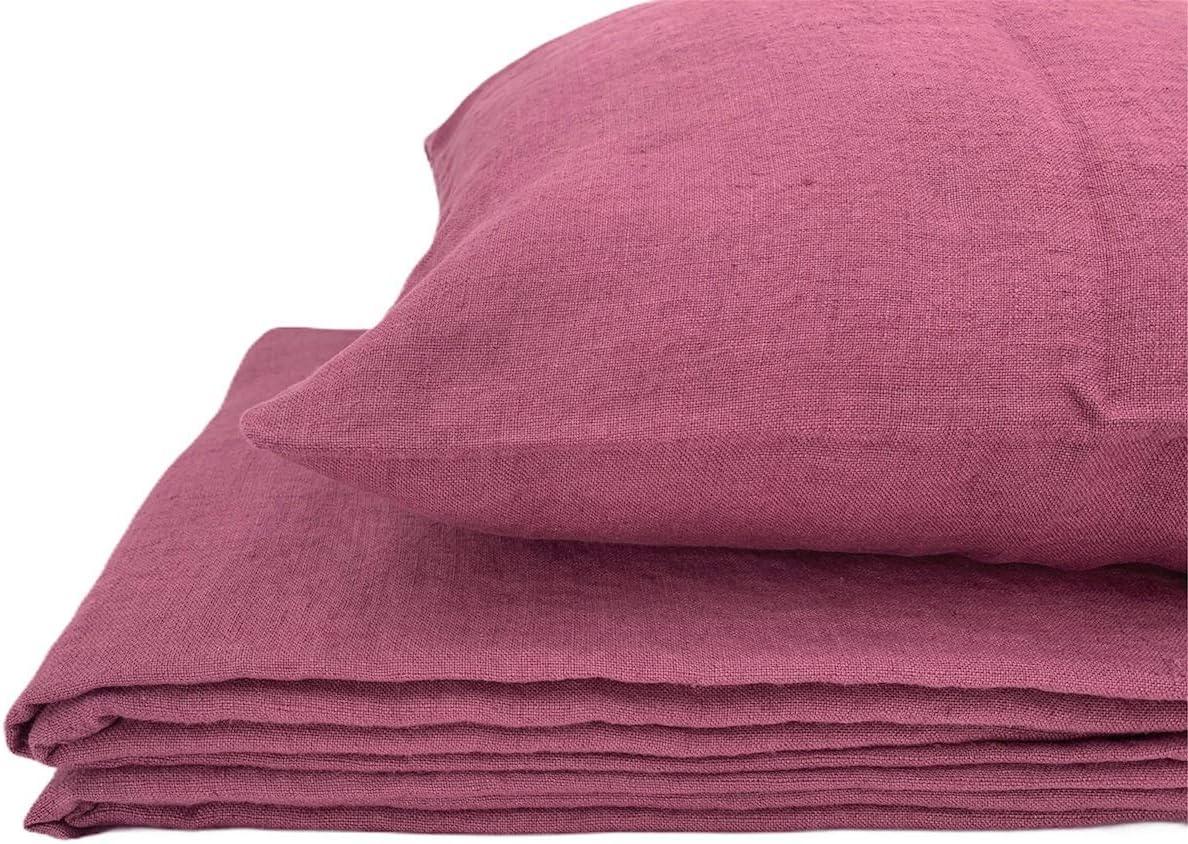Jowollia Parure de lit en lin naturel, 100 % lin \
