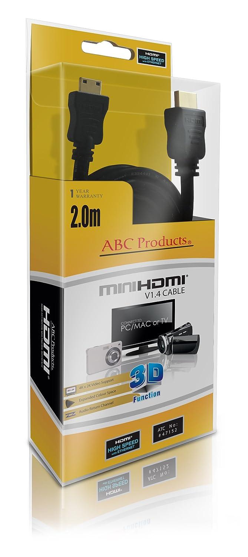 CX11 SR7E ABC Products/® Sony Mini C HD HDMI Cavo per Handycam HDR // DCR Series HDR-CX6EK CX105E CX155E CX350VE CX305E SR10E, PJ10 CX130 CX11E SR10 SR7 CX7 SR5E CX700 DVD105 CX105 SR8E SR5 SR8 CX115 CX505VE CX12 SR5C CX116E CX6
