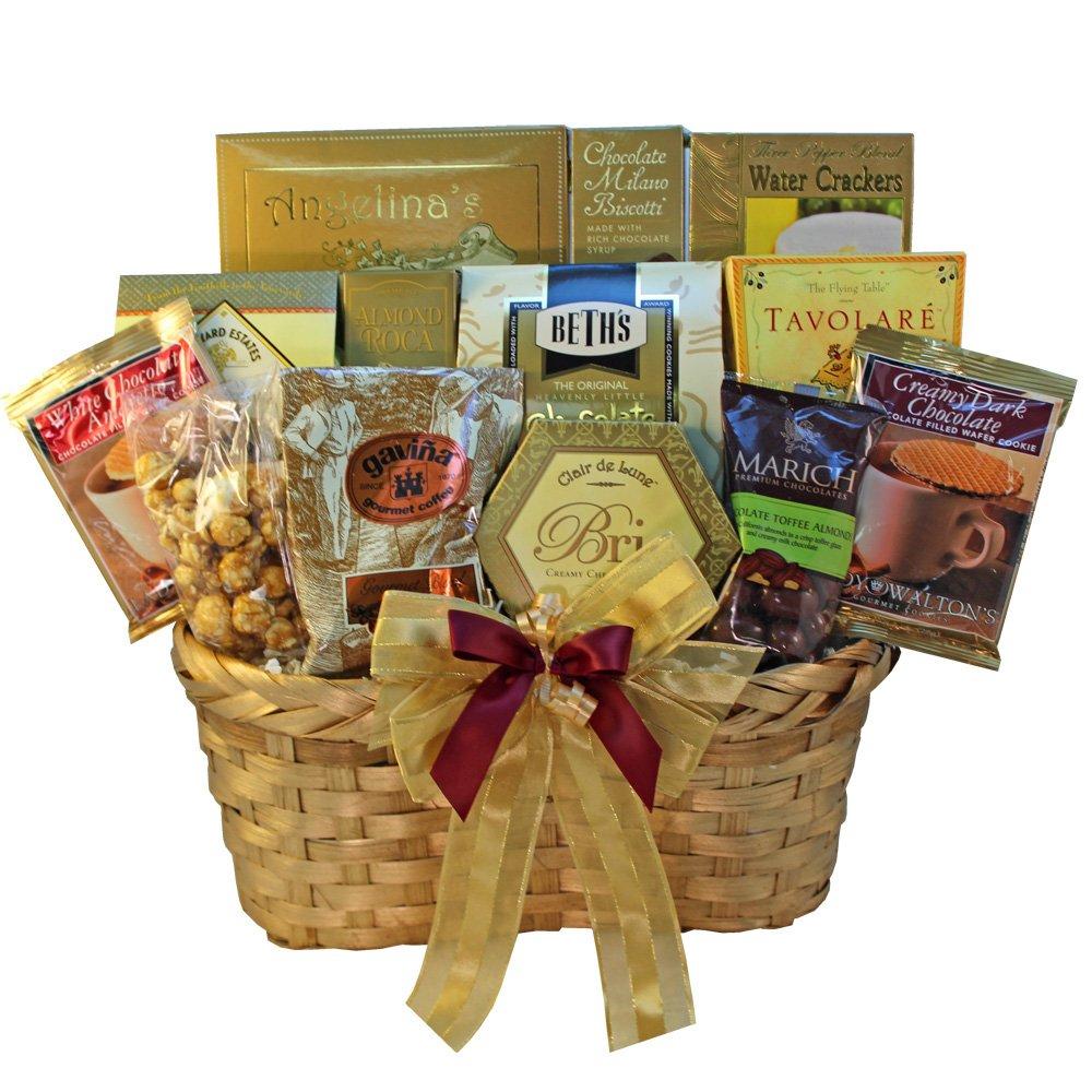 Golden Splendor Gourmet Food and Snacks Gift Basket