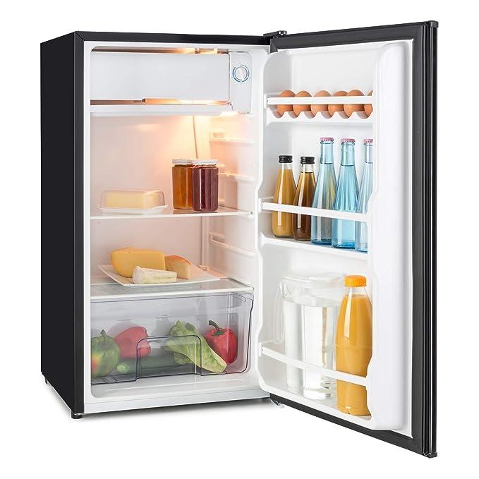 Klarstein Spitzbergen Uni • nevera • refrigerador • marcador para escribir en la puerta • 90 l • 2 estantes de vidrio • compartimentos de hielo y verduras ...
