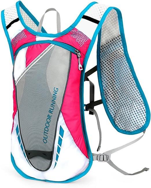 Pink VORCOOL Trinkrucksack Rucksack Professional 12L Outdoors Mochilas Trinkweste f/ür Marathonl/äufer Laufen Race Cycling