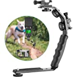 Neewer Camera Video L-Shape Flash Bracket with Dual Flash Cold Shoe Mount 1/4 inches Tripod Screw Versatile Handheld for…